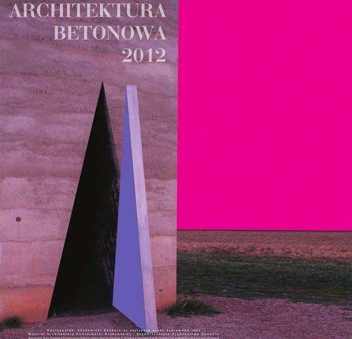 Wyróżnienie – Architektura Betonowa 2012