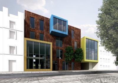 Centrum Młodzieżowe | Elewacja południowa | H+ Architektura