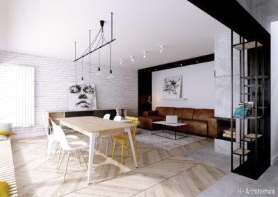Krajewskiego | Jadalnia | H+ architektura