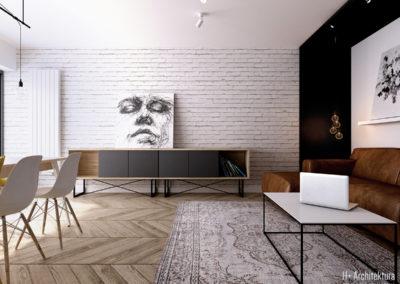 Krajewskiego | Salon | H+ architektura