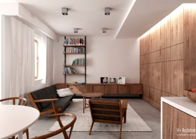 Potokowa   Salon   H+ Architektura