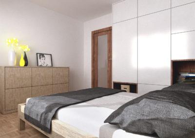 Poturzyńska   Sypialnia   H+ Architektura