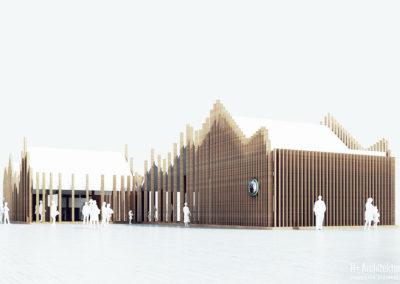 Pawilon wystawowy | Front | H+ Architektura