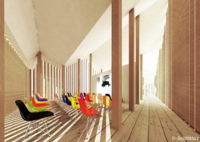 Pawilon wystawowy | Sala kinowa | H+ Architektura