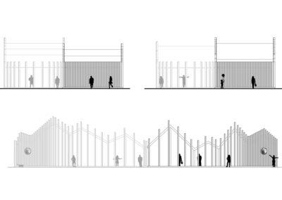 Pawilon wystawowy | Elewacje | H+ Architektura