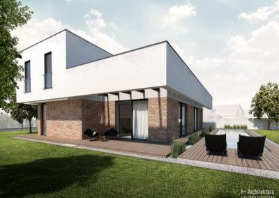 Dom podmiejski   Elewacja   H+ Architektura