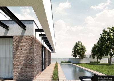 Dom podmiejski   Detal   H+ Architektura