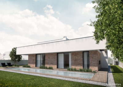 Dom podmiejski | Elewacja | H+ Architektura