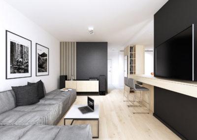 Konwaliowa 02   Salon   H+ Architektura