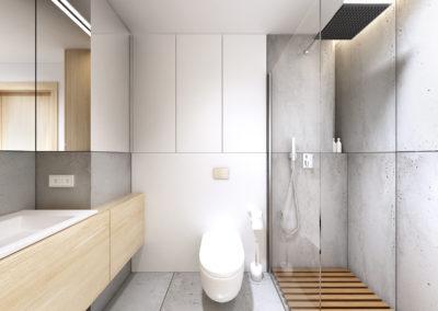 Konwaliowa 02 | Łazienka | H+ Architektura