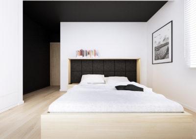 Konwaliowa 02 | Sypialnia | H+ Architektura