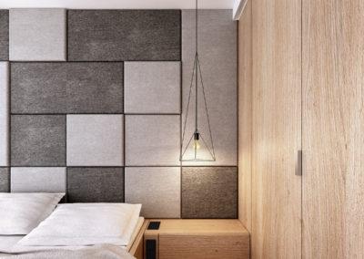Koralowa | Sypialnia | H+ architektura