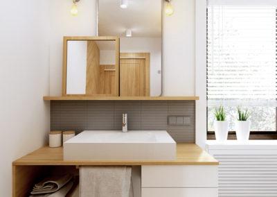 Łazienki AP | Łazienka mała | H+ Architektura