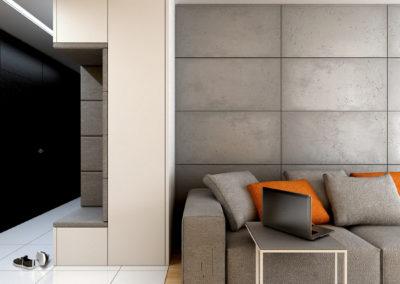 Strzeszewskiego | Salon | H+ architektura