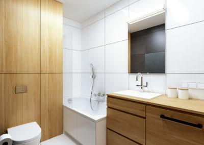 Strzeszewskiego | Łazienka | H+ architektura