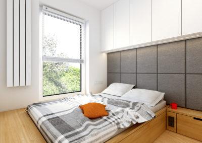 Strzeszewskiego | Sypialnia | H+ architektura