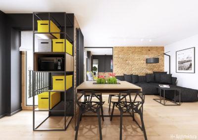 Śmiałego | Kuchnia - Jadalnia | H+ architektura