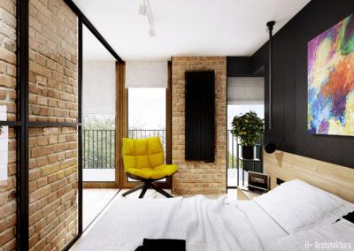 Śmiałego | Sypialnia | H+ architektura